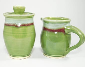 Cream and Sugar Set - Sugar and Cream Set - Sugar Bowl and Cream Pitcher - Creamer and Sugar Jar - Small Pitcher - Cream Pitcher - In Stock