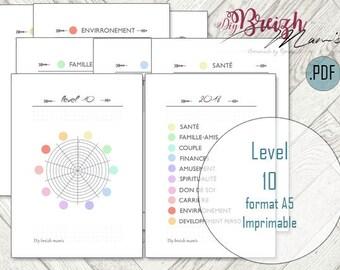 A5 printable / / Level 10 / / deepens //francais