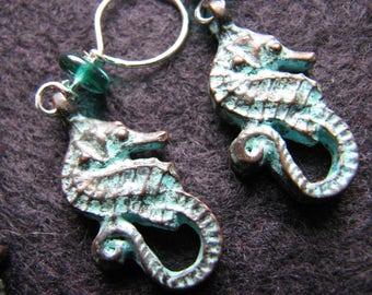 Stitch markers knitting | crochet | seahorse charm | animals | handmade | sea life | supplies