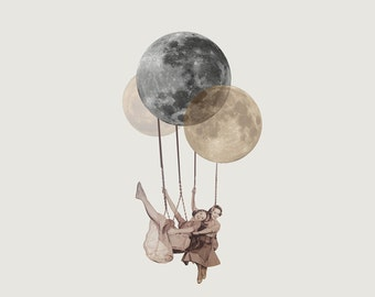 The Moon is a Balloon- Archival Print