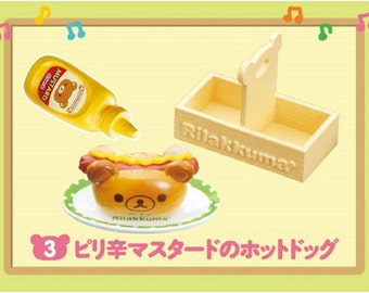Rilakkuma: Re-ment Miniature Maku Maku Hamburger Shop #3 Hot Dog Sealed Box