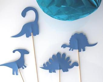 4 skewers blue dinosaur birthday-photobooth party
