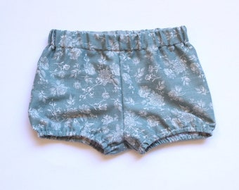 Sage Floral Bloomers / Bloomers / Baby Bloomers / Floral Bloomers / Cotton Baby Bloomers / Bubble Shorts