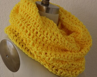 Extra Large Tube Cowl Snood Canary Yellow
