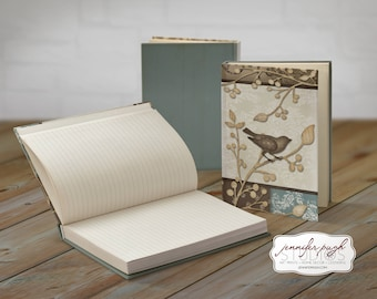 Brown Bird 5x7 Hardback Bound Journal -Inspirational, Word Art
