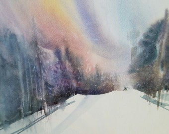"Last Run - 8.375""x12"" Watercolor Giclee Print"