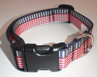 Red, White,and Blue Dog Collar