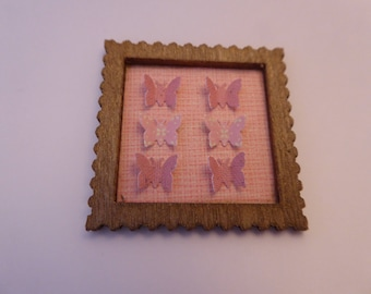 Modern miniature butterfly picture for the 12th scale dolls house