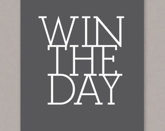 """PRINTABLE """"Win The Day"""" Poster - PDF digital file"""