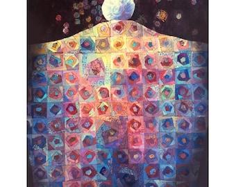 Quilt Art birthday card 1014