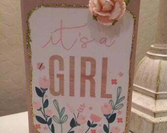 Baby Girl Wood Block Sign