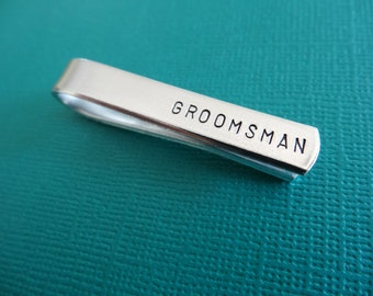 Groomsman Tie Bar - Groomsman Tie Clip - Wedding Party Accessory
