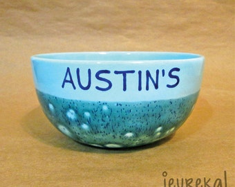 Personalized Name Bowl - Blooming Blue