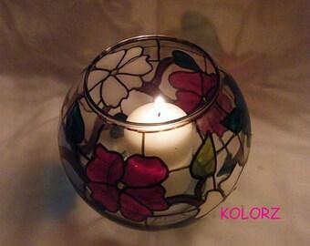 Big Floral Candle Holder