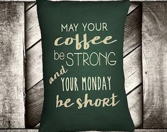 "Coffee Monday  12""x16"" Pillow Set"