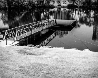 Lake Jetty Photo Print Wall Art Print Photography