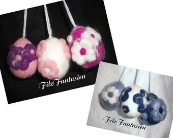 Easter eggs, Filzeier, felted eggs, Easter of felt, felt decoration, decorative decorations for Easter