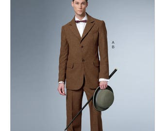 Butterick B6503 Men's Single-Breasted Lined Suit with Back Vent and Cuffed Pants