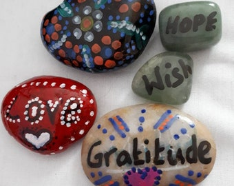 Painted gratitude rocks