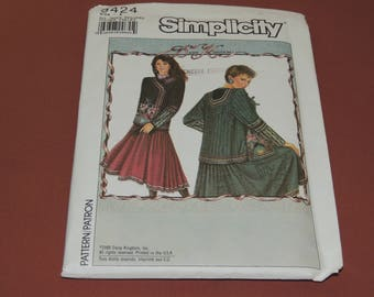 Uncut Daisy Kingdom Simplicity 9424 Womens Jacket pattern all sizes
