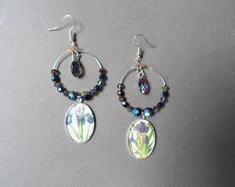 Iris mismatched earrings