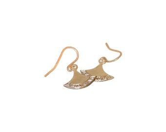 Fan Favorite Earrings Gold with Diamonds