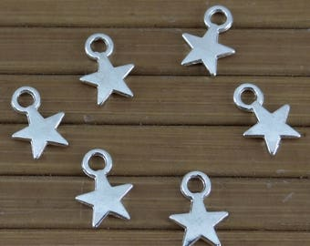 40 charms star bc211 silver metal