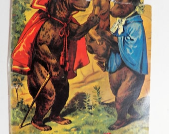 Vintage Reproduction Childrens Book The Three Bears, Vintage Childs Book Merrimack Publishing 1982, Fairytale Book
