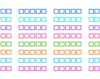 Check Box Stickers: Printable & Perfect for All Planners (Digital Pdf File)