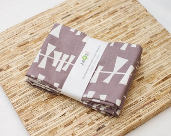 Large Cloth Napkins - Set of 4 - (N1319) - Geometric Modern Reusable Fabric Napkins