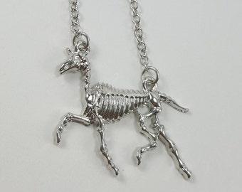 Unicorn Skeleton Necklace, Unicorn Necklace, Unicorn Jewelry, Gothic Unicorn,  Unicorn Choker, Creepy Cute Jewelry