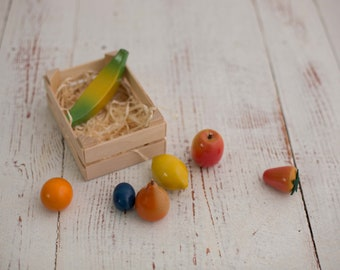 Fruits Wooden Play Food Set