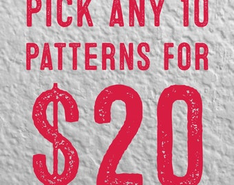 Pick Any 10 Cross Stitch Patterns for 20 Dollars