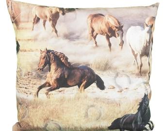 Pillow Square Horses