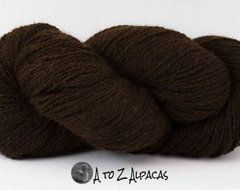 SUPER-SIZED SKEIN! Royal Baby Alpaca Yarn Sport Weight Natural Dark Brown 200 gram skein
