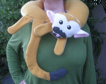 Squirrel Monkey Neck Pillow for Traveling and Relaxing