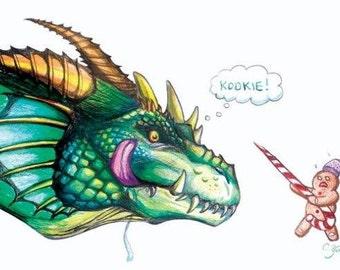 """Cookie Dragon 11x17"""" Print"""
