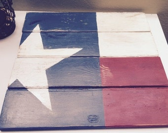 Medium Texas Flag Wood Art