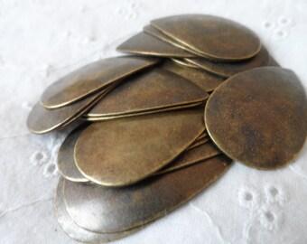 "Vintage silver(not shown)plate brass blanks,1&1/4"",20pcs-KC511"