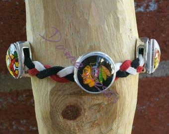 Three image twisted Blackhawks bracelet or choker necklace
