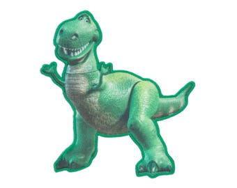 Rex Iron On Applique, Genuine Disney Iron On Patch, Toy Story Patch, Dinosaur Patch, Rex Applique, Disney Applique, Dinosaur Applique