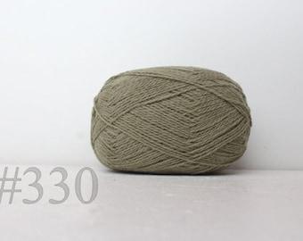 WOOL yarn 100%-knitting yarn - light grey green #330