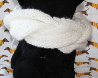 "17"" Dog Scarf Knit in Braided Cable"