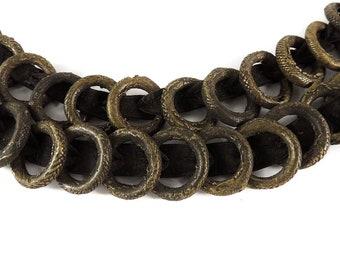 Yoruba Money Belt  Brass Currency Rings African 30 Inch 121405