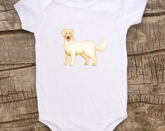 Cute Baby clothes, Unique baby bodysuit, Dog bodysuit, Puppy bodysuit, Golden Retriever, Golden, Pet Lover, Baby gift