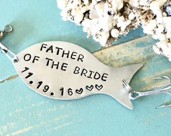 FATHER Of The BRIDE Gift, Fishing Lure Personalized, Gift For Dad, Gift For Father, Gift For Fisherman, Custom Fishing Lure