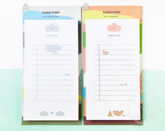 Cloud To Do List Notepad / Checklist Notepad
