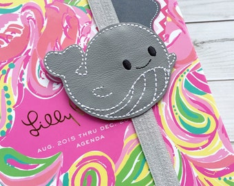 Whale Planner Band - Planner Band - Whale Bookmark - Planner Bands- Planner Accessory - Planner Clips - Whale - Planner Accessories