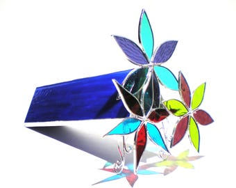 Cycle of Life - 3D Stained Glass Kaleidoscope - Large Colorful Spinning Lotus Flower Collectible Art Home Decor Suncatcher (READY TO SHIP)