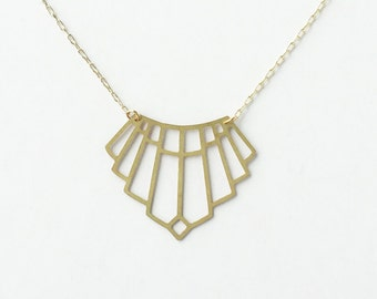 Art Deco Arch Necklace | ATL-N-154